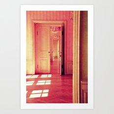 pink lightroom Art Print