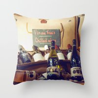 Vin au Frais: Chilled Wine Throw Pillow