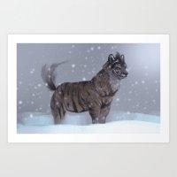 Tiger Wolf! Art Print