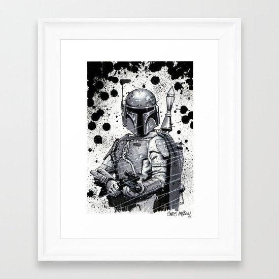 Boba Fett: Bounty Hunter Framed Art Print