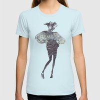 Fashion Sketches In Mixe… Womens Fitted Tee Light Blue SMALL