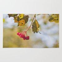 Berry Bokeh Fine Art Photographic Winter Print  Rug