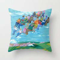 Plane Without Plane Throw Pillow