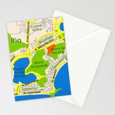 RIO map design - Brasil Stationery Cards