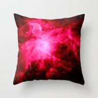 Orion Nebula Deep Pink /… Throw Pillow