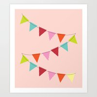 Hooray for girls! Art Print