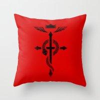 Fullmetal Alchemist Flamel - Black Throw Pillow