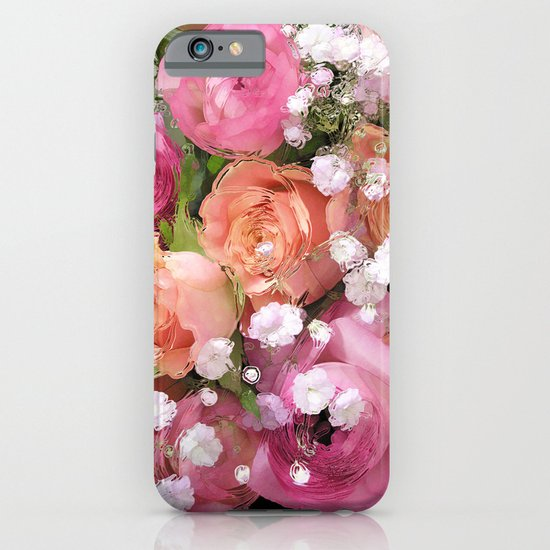 Baby's Breath and Candy Roses iPhone & iPod Case