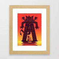 Pizza Demon Framed Art Print