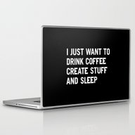 I Just Want To Drink Cof… Laptop & iPad Skin