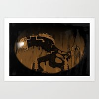 Oil Monster Art Print
