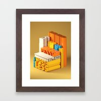 Typographic Insults #7 Framed Art Print