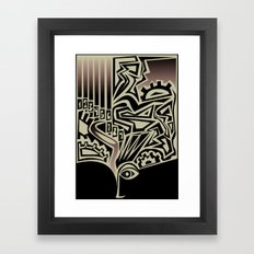 Think Framed Art Print