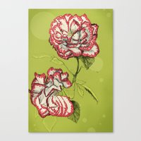 Flower Paintings: Rise A… Canvas Print