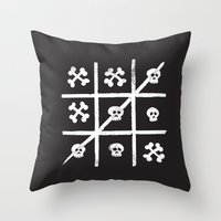 Skull + Bones Throw Pillow