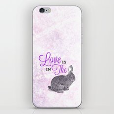 Love is in the hare. iPhone & iPod Skin