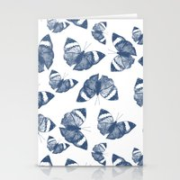 Pretty Blue Butterflies Stationery Cards