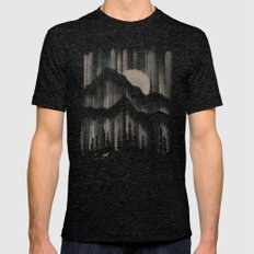 A Wolf in the Night... Mens Fitted Tee Tri-Black SMALL