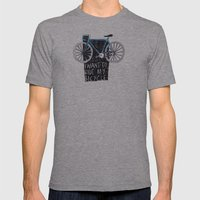 My Bicycle Mens Fitted Tee Athletic Grey SMALL