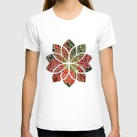 Floral Abstract 7 Womens Fitted Tee White SMALL