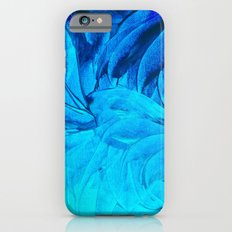 PETAL PINWHEELS, Revisited -  Indigo Royal Blue Turquoise Floral Pattern Swirls Ocean Water Flowers Slim Case iPhone 6s