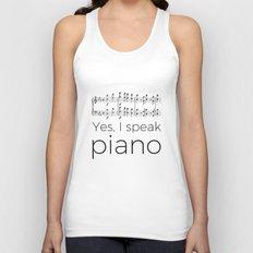 I speak piano Unisex Tank Top