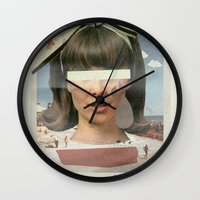 Tears In The Typing Pool | Collage Wall Clock