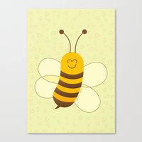 Cute Baby Bee Canvas Print