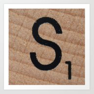 Art Print featuring Tile S by Beastie Toyz