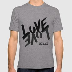 LOVE - Miami - Mens Fitted Tee Athletic Grey SMALL
