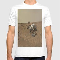 NASA Curiosity Rover's Self Portrait at 'John Klein' Drilling Site in HD SMALL White Mens Fitted Tee