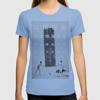 Exam Womens Fitted Tee Athletic Blue SMALL