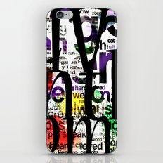 Abstract Text iPhone & iPod Skin