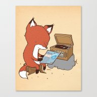 Canvas Print featuring Record Player by Hatrobot