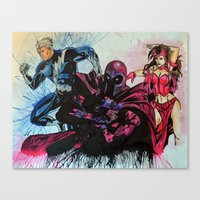 Magneto, Quicksilver, Scarlet Witch Canvas Print