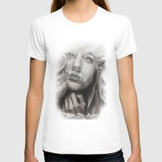 Find The Light     By Davy Wong Womens Fitted Tee White SMALL
