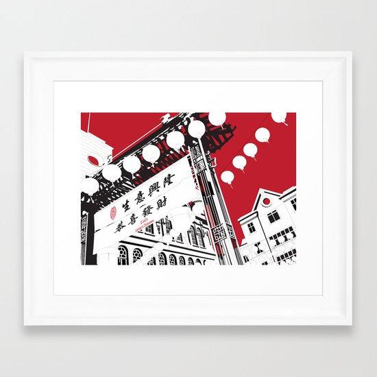 London's Chinatown Framed Art Print