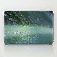 banana leaf rain drops hawaii iPad Case