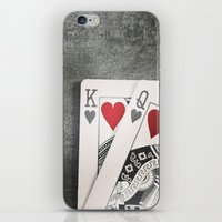 King And Queen Of Hearts iPhone & iPod Skin
