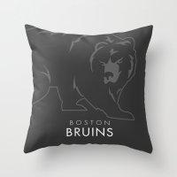 Minimal Boston Throw Pillow