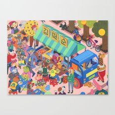Dokkaebi Food Truck Canvas Print
