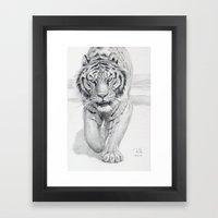 Tiger Walking C036 Framed Art Print