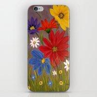 Wildflower-2 iPhone & iPod Skin