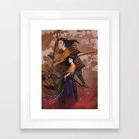 The Spirit Of Tomoe Goze… Framed Art Print