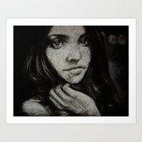 Charcoal experiment #5 Art Print