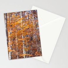 Golden brown leaves Stationery Cards