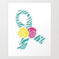 Endometriosis Ribbon 3 Art Print