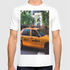 New York City White Mens Fitted Tee SMALL