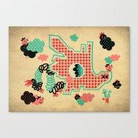 Dragon Playground Of Sin… Canvas Print