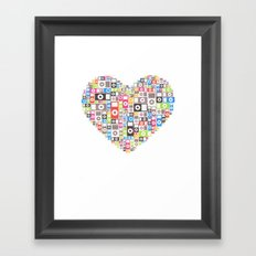 I love Ipod Framed Art Print